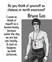 Bruce Lee - human being by resMENSA