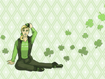 Wallpaper - Kiss Me, I'm Lucky by ErinPtah