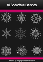 Photoshop Snowflake Brushes by DesignQueen