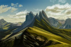 Mountain Study - Daily Practice by Olooriel