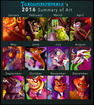2016 in Review by Turquoisephoenix