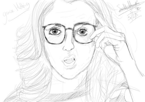 Grace Helbig quick sketch by butt-4-brains