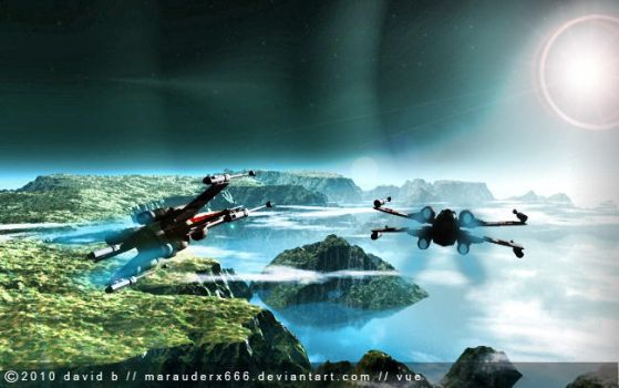 Routine Patrol Xwing by marauderx666