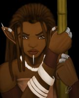 African Elf Warrior by KiraTheArtist
