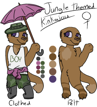 OPEN Kinkajou Mystery Adopt|Adopts|DaHuskyPup-Draw by DaHuskyPup-Draws
