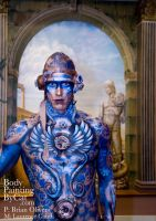 IMATS Mural steampunk body by Bodypaintingbycatdot
