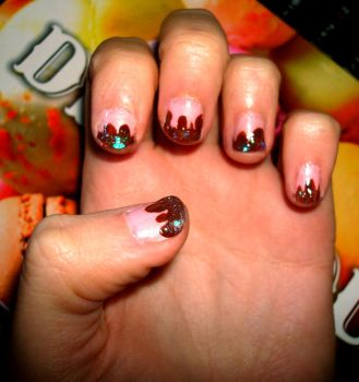 Choco Nails by Violettomane