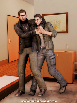 Chris Redfield and Piers Nivans by JhonyHebert