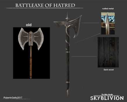 Skyblivion - Battleaxe of hatred by RobertoGatto