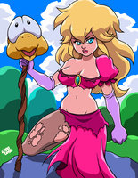 PEACH IN SAVAGE LAND by AnyaUribe