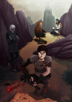 Hawke and friends (lost in the Wounded Coast) by margaw