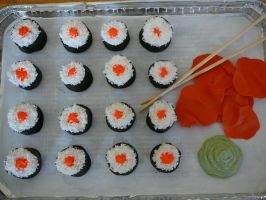 sushi mini cupcakes from above by jfwhitaker