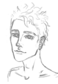 Some guy sketch by MuseOfMelancholy