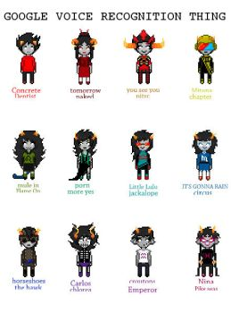 Homestuck 'Google Voice Recognition Thing'  Meme by SovietSparkleParty