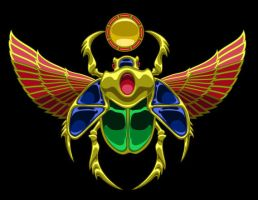 Jewelled Scarab by Kezef