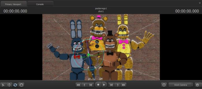 wip of Fredbear and friends poster by TheMrTrap2017