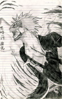 Bleach - Ichigo Hollowfying by SilverSoul1496