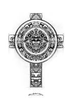 Aztec cross sketch by SteveGolliotVillers