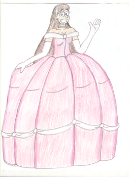 Adult Mabel in Ballgown by TrainsAndCartoons