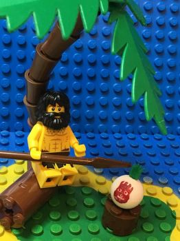 Lego Cast Away by mattforrest