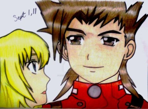 Lloyd and Colette ToS Coloured by SheikahLover