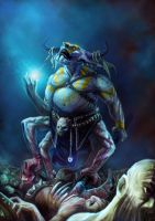 Witch doctor monster by jackegiacomo