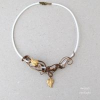 White November wire wrapped necklace by IanirasArtifacts