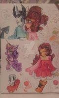 Watercolour doodles by Kirbypuff326