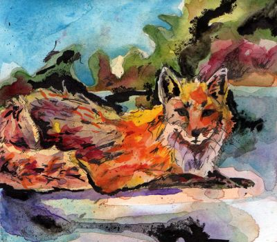 Fox Out of Water by jashme