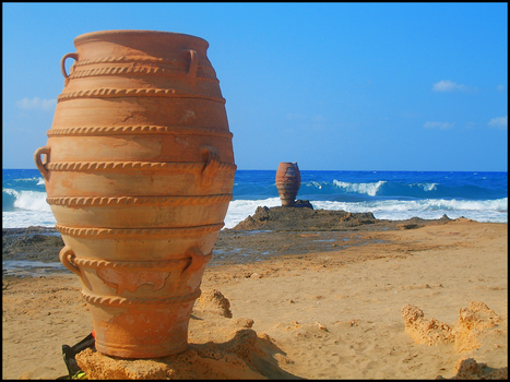 Amphoras on the sea by Ottachan