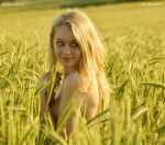 Catherine in the wheat field by Val-Mont