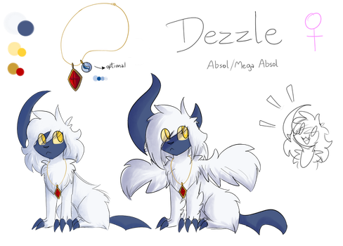 Reference - Dezzle (Absol) by DragonBeast11
