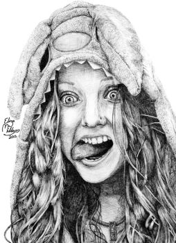 Crazy (pen) by BumblingBee