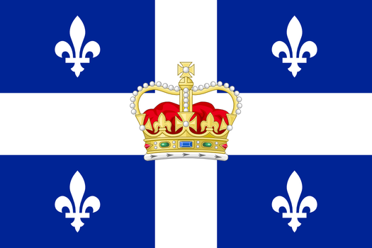 Flag of quebecian monarchisme by Jaglion