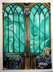 Slytherin Common Room by CapnInsanity