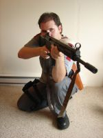 Dale with guns stock 9 by Tensen01