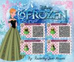 Frozen QR code: Anna's Coronation Dress by Rasberry-Jam-Heaven