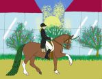 SDS/HSS Anisha dressage entry by Seri-goyle