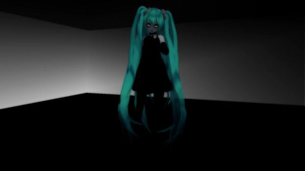 [MMD] Monochrome Loneliness by CryogenicNeon