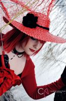 Thinking of You _ Madame Red by ManuelaRusso