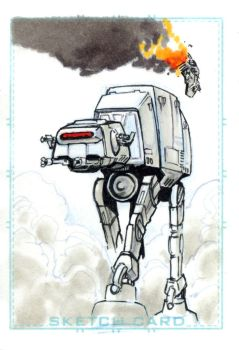 AT-AT Sketchcard by joewight