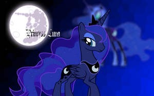 A Changed Mare - Luna Wallpaper by Magna-Vis