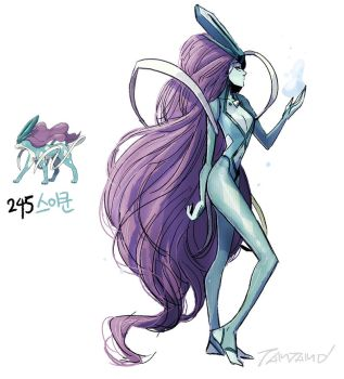 245.Suicune by tamtamdi