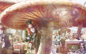 As mad as a hatter wallpaper by deppink