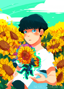 MP100 : Sunflower fields are nice by Owlyjules