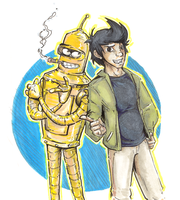AU fry and bender by not-fun