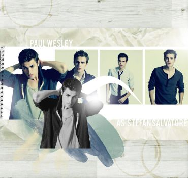 Paul Wesley as Stefan by hellotherelily