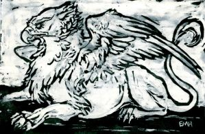 gryphon card by julip