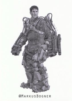 Major William Cage (Tom Cruise) - Edge of Tomorrow by MarkusBogner