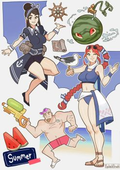 Paladins, Summer skin ideas by SplashBrush